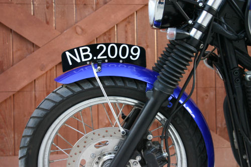 NewBonneville NO DRILL Front Number Plate - Pedestrian Slicer - for the New Triumph Bonneville