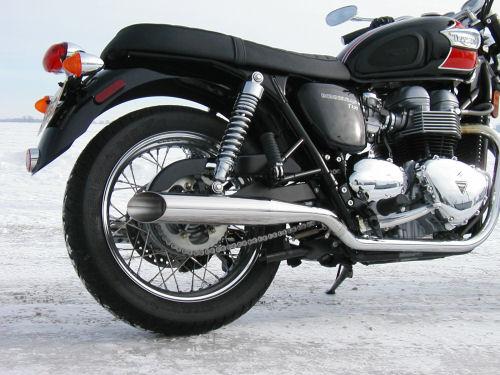 sceptre exhaust for the new triumph bonneville